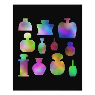 Multicolor Perfume Bottles. 11.5 Cm X 14 Cm Flyer