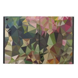 Multicolor Pink & Green Triangle Geometric Design
