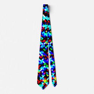 Multicolor Pixel Pattern Tie