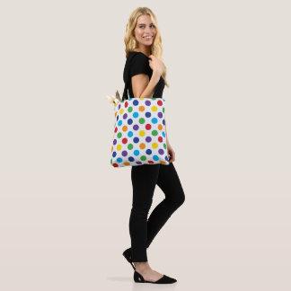Multicolor Polka Dot pattern Tote Bag