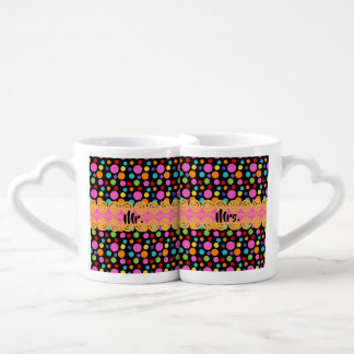 Multicolor Polka Dots Coffee Mug Set
