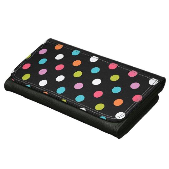 Multicolor Polka Dots Wallet