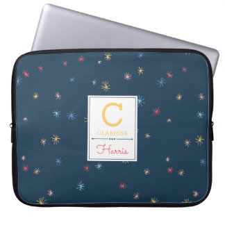 Multicolor Pom Poms | Personalized Laptop Sleeve