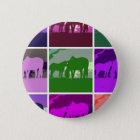 Multicolor Pop Art Horses 6 Cm Round Badge
