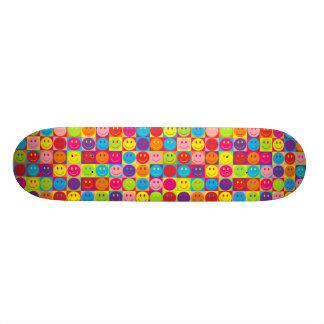 Multicolor Pop Smileys Skate Board