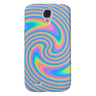 Multicolor Psychedelic Twist Swirl Pern. Galaxy S4 Case