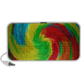 Multicolor Radical Abstract Art 4 Travelling Speaker