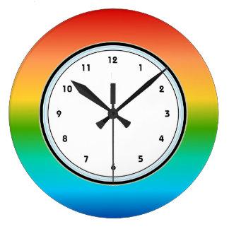 Multicolor Rainbow wall clock