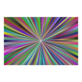 Multicolor ray design flyer