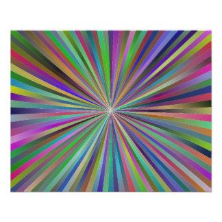 Multicolor ray design flyer design
