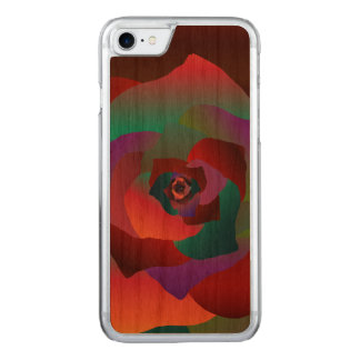 Multicolor Rose, Carved iPhone 8/7 Case