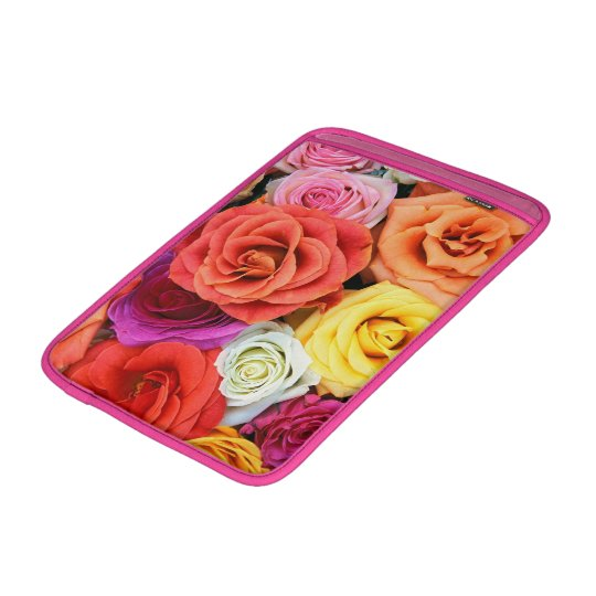 Multicolor Roses Illustration Design MacBook Sleeve
