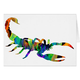 MULTICOLOR SCORPION PRODUCTS GREETING CARD
