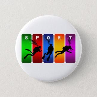 Multicolor Scuba Diving Emblem 6 Cm Round Badge