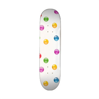 Multicolor Shiny Polkadot Confetti DIY Background Skate Boards
