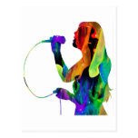 MULTICOLOR SINGER PRODUCTS POST CARD