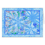 Multicolor snownflakes greeting card