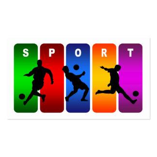 Multicolor Soccer Emblem Business Cards