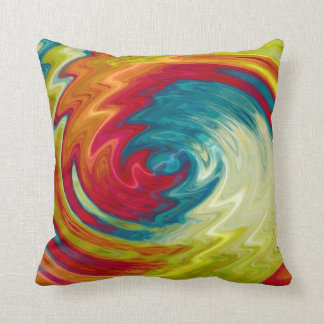 Multicolor Spiral Abstract Art Cushion