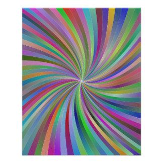 Multicolor spiral 11.5 cm x 14 cm flyer