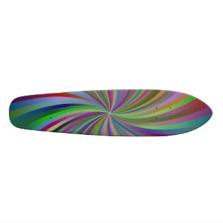 Multicolor spiral skate board