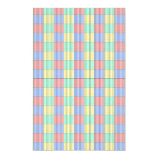 Multicolor Square.Seamless Colored Plaid Pattern Full Color Flyer