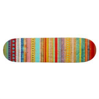 Multicolor Stripe Skate Board  Skateboard