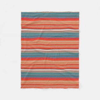Multicolor Striped Pattern Fleece Blanket