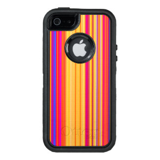 Multicolor Striped Pattern OtterBox Defender iPhone Case