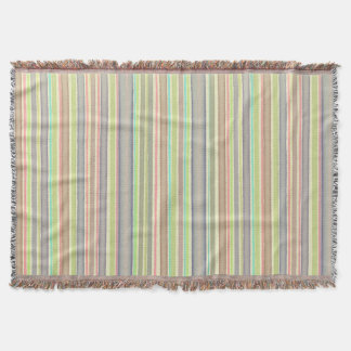 Multicolor stripes design throw blanket