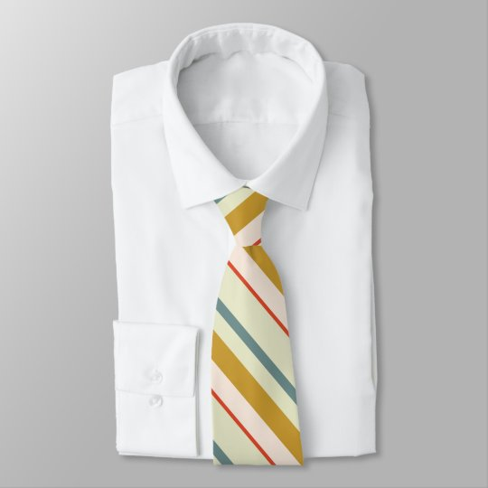 Multicolor stripes pattern tie