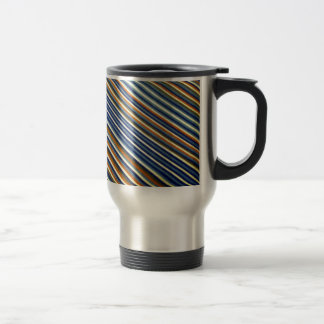 Multicolor Stripes Stainless Steel Travel Mug