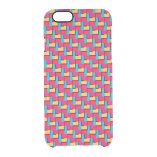 Multicolor Stylish Zigzag Pattern Clear iPhone 6/6S Case