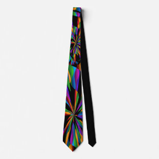 MULTICOLOR SUBTLE CROSS TIE ON BLACK