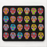 Multicolor Sugar Skulls Mouse Mat