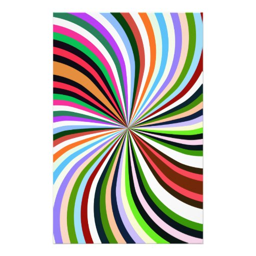 Multicolor Swirl. Chic, Exotic Colorful Background Stationery Paper