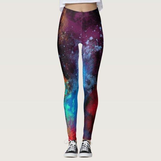 Multicolor Texture Leggings