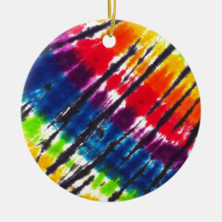 Multicolor Tie-Dye Christmas Ornament