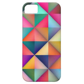 Multicolor Triangle Square Tiles Geometric Pattern iPhone 5 Case