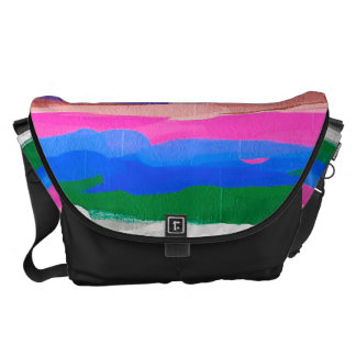 Multicolor Watercolor Abstract Pattern Courier Bag