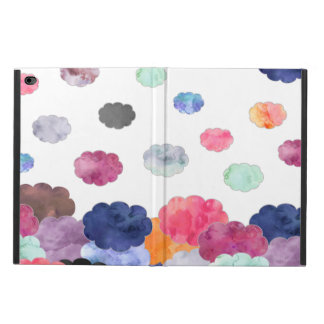 Multicolor whimsical watercolour clouds pattern powis iPad air 2 case