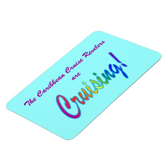 Multicolor Word Custom Stateroom Door Marker Magnet