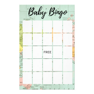 Multicolor World - Baby Shower Bingo Flyer