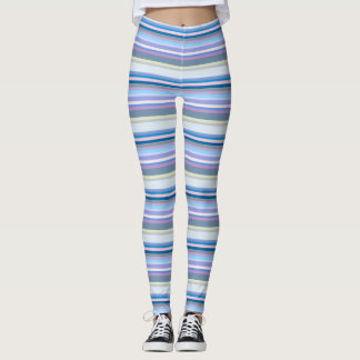 Multicolor Yellow/Gray/Beige/Pink/Purple/Blue Leggings