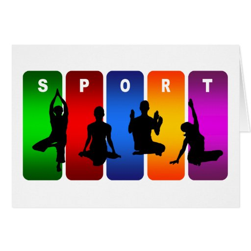 Multicolor Yoga Emblem Greeting Card