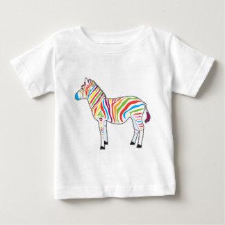 Multicolor Zebra Baby T-Shirt
