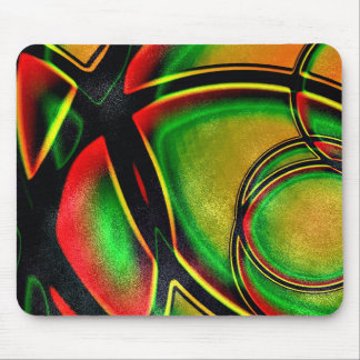 Multicolored Abstract Artistic Mouse Pad