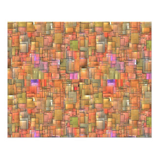 Multicolored Abstract Background. Colorful Pattern 11.5 Cm X 14 Cm Flyer