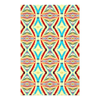 Multicolored Abstract Chains. Geometric Pattern Custom Flyer
