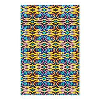 Multicolored Abstract Chains. Geometric Pattern Flyers